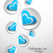 Hearts circle design for valentine,s day vector — Vettoriali Stock