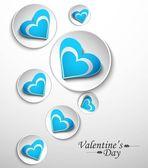 Diseño del círculo de corazones para san valentín, vector día s — Vector de stock