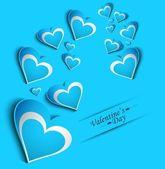 день святого валентина карты blue красочные фантастический фон — Cтоковый вектор