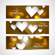 Fantastic Valentine's Day Set of stylish bright colorful header - Stock Vector