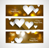 Fantastic Valentine's Day Set of stylish bright colorful header — Wektor stockowy