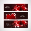 Valentines day bright colorful header vector white background — Stock Vector