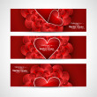 Valentine's Day design red header card background vector illustr — Stok Vektör