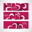 Royalty-Free Stock Vektorfiler: Valentine\'s Day colorful hearts presentation header set