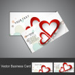 Creative Business card set Valentine's Day colorful heart vector — Stock Vector