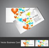 день святого валентина визитная карточка набор красочных сердце текстуры дизайн — Cтоковый вектор