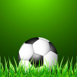 Abstract green grass colorfull football vector — Stockvectorbeeld