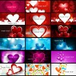 Creative Valentine's Day bright colorful heart collection busine — Stock Vector