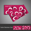 Business card set colorful heart stylish background illustration — Imagen vectorial