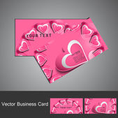 Business card set colorful heart stylish vector — Vector de stock