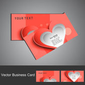 Valentine's Day business card set vector — Stock Vector