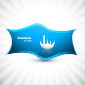 Ramadan kareem blue colorful vector design — Stock Vector