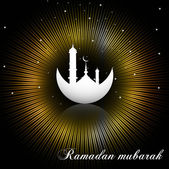Abstract shiny bright colorful rays ramadan kareem — Stock Vector