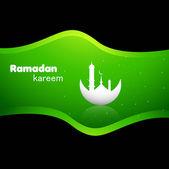 Abstract bright colorful green ramadan kareem vector — Stock Vector
