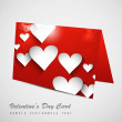 Valentine's Day colorful heart marriage card set vector — Stock Vector