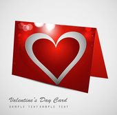 Valentine's Day red colorful heart marriage card set design back — Stock Vector
