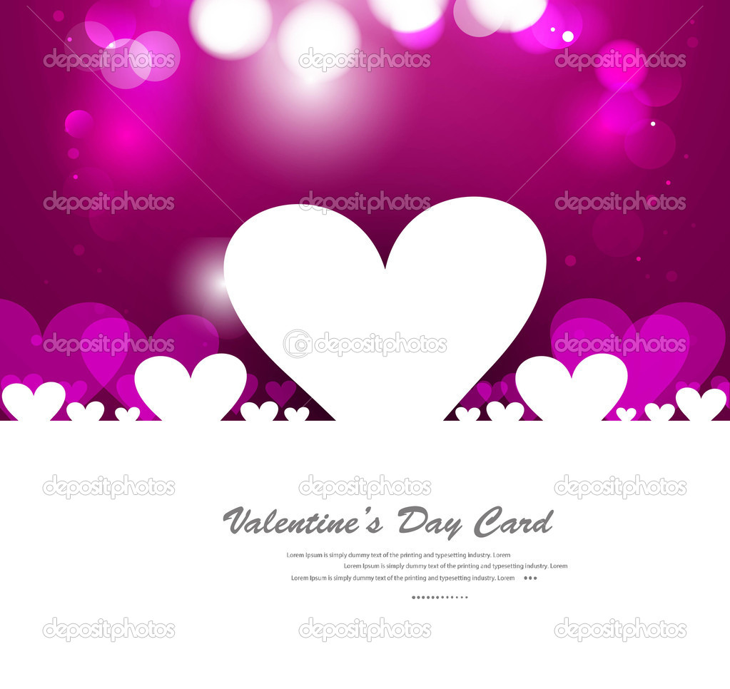 Valentines day hearts fantastic love design — Stock Vector #20198787