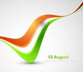 Indian flag stylish tricolor wave vector — Stock Vector