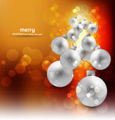 Merry christmas colorful background balls vector — Stock Vector