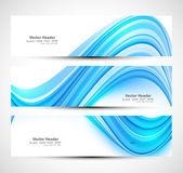 网站标题时尚蓝色波浪炫彩设置的矢量惠特设计 — 图库矢量图片