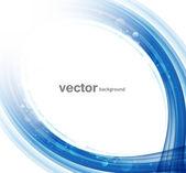 Disegno vettoriale colorato di blu creativo della tecnologia wave — Vettoriale Stock