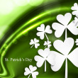 St. Patrick's Day wave background Vector illustration - Stock Vector