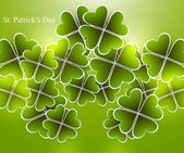 Abstract shiny beautiful green saint patricks day vector illustr — Stock Vector