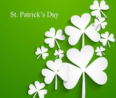 Happy St. Patrick's Day Irish leaf lucky green colorful backgrou — Vettoriale Stock