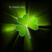 St. Patrick's Day single leaf colorful green swirl wave eps10 ba — 图库矢量图片