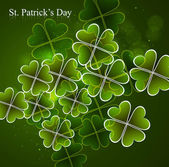 Happy St. Patrick's Day green colorful vector background illustr — Stock Vector