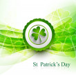 St. Patrick's Day bright colorful green icon wave vector illustr - Image vectorielle