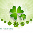 St. Patrick's Day bright colorful green leaf design vector illus - Image vectorielle