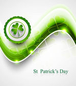 St. Patrick's Day colorful green icon wave background — Wektor stockowy