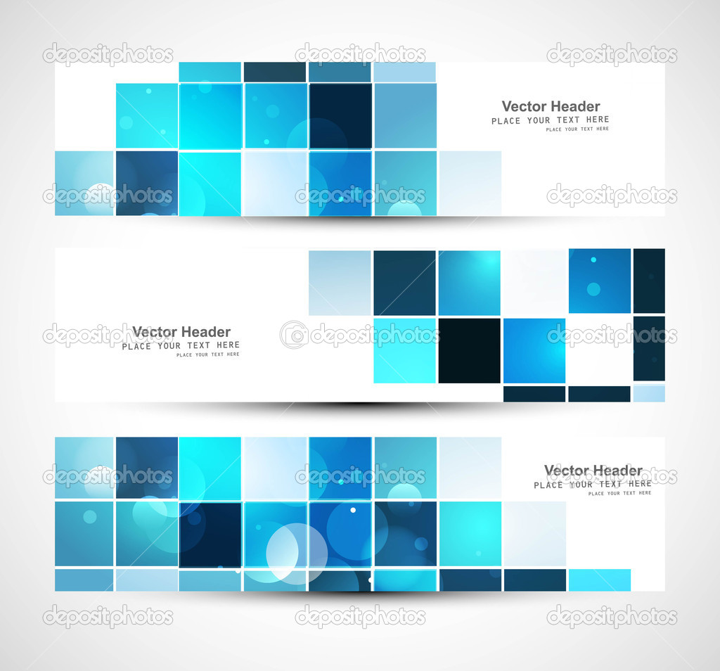 Three abstract header design - stock vector Images - Frompo