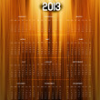 2013 calendar bright colorful shiny wood texture vector — Stock Vector