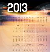 2013 kalender heldere kleurrijke vector illustratie ontwerpen — Stockvector