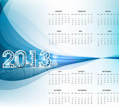 2013 calendar bright blue wave new year colorful vector — Stock Vector