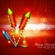 Diwali crackers hindu festival bright colorful vector design - Stock Vector
