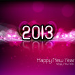 Happy new year 2013 colorful shiny design vector — Stock Vector #21997177