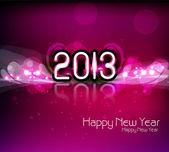 Felice anno nuovo 2013 colorato lucido vettoriale — Vettoriale Stock