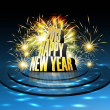 2013 Happy new year reflection celebration colorful background v — Stock Vector #22224337