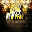 2013 Happy new year reflection celebration colorful background — Stock Vector