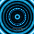 Abstract light circle vector shiny blue technology - Stockvektor