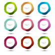Abstract vector colorful circle for speech bubbles illustration - Stockvektor