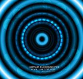 Streszczenie światła koło wektor błyszczący technologii niebieski — Wektor stockowy