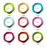 Abstrakt vektor färgglada cirklar för speech bubbles illustration — Stockvektor