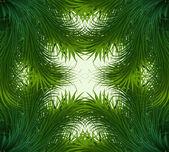Abstract shiny green grass vector frame background — Stock Vector