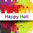 Abstract mosaic of holi festival background vector — Stock Vector