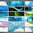 Abstract Various 18 colorful header set collection vector - Stock Vector