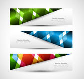 Abstract header colorful vector illustration — Stock Vector